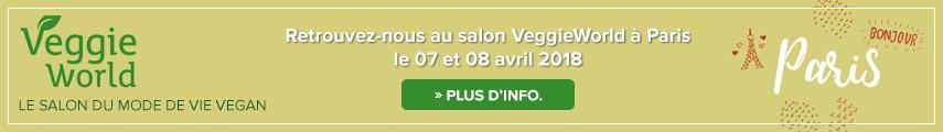 Retrouvez-nous au salon VeggieWorld à Paris le 07 et 08 avril 2018