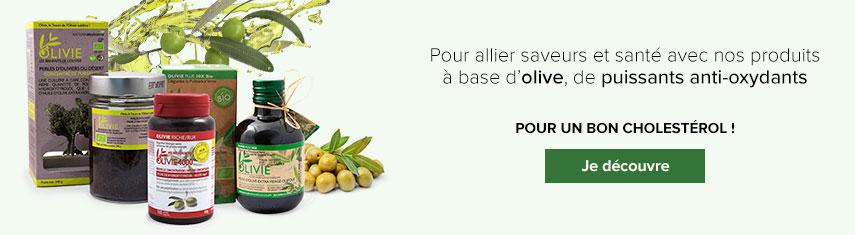 Produits naturels Olivie Pharma à base d'huile d'olive